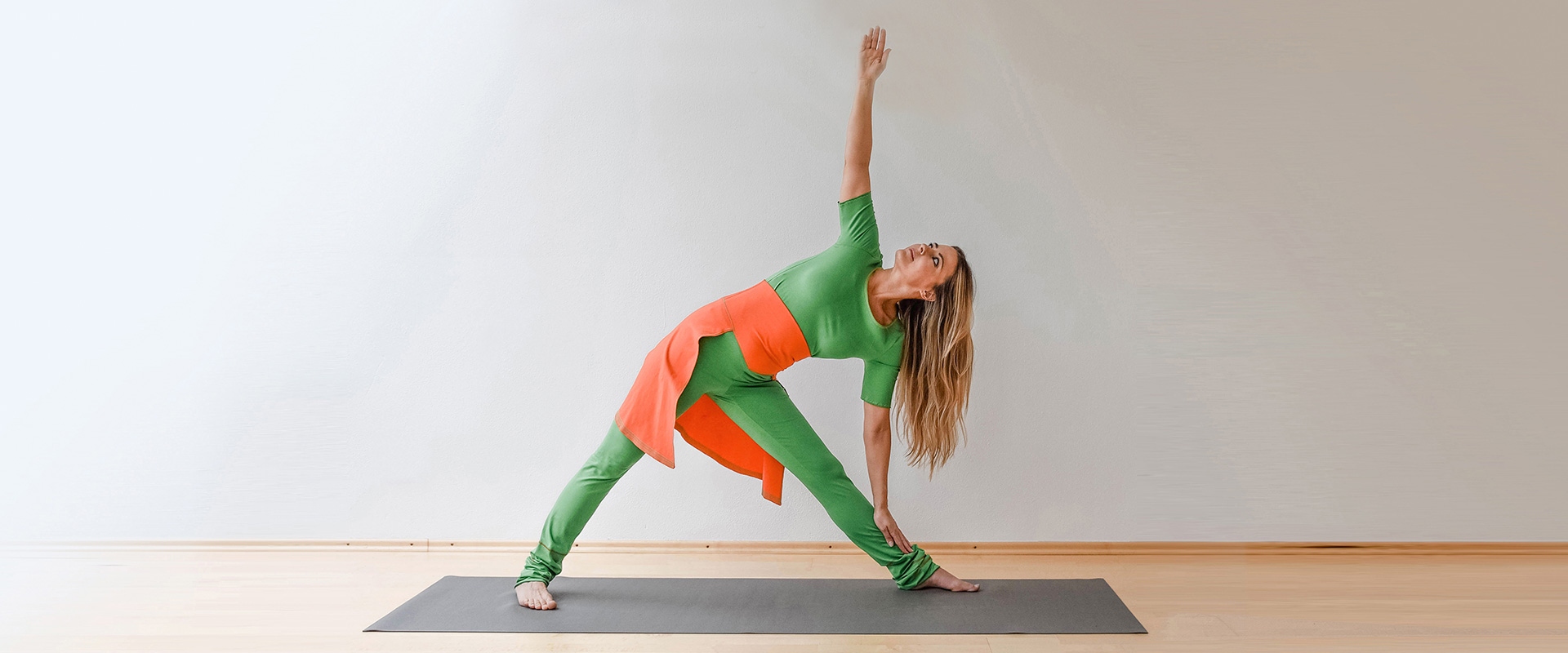 yogawear leggings yoga grün orange t-shirt kaufen