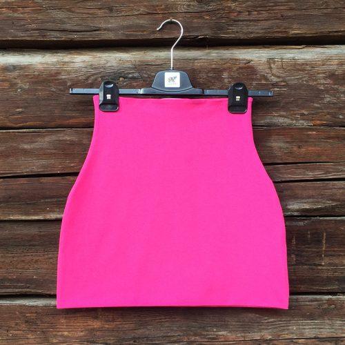 yogatube nierenwärmer cacheur bauchband backwarmer Baumwolljersey Yogakleidung uni pink