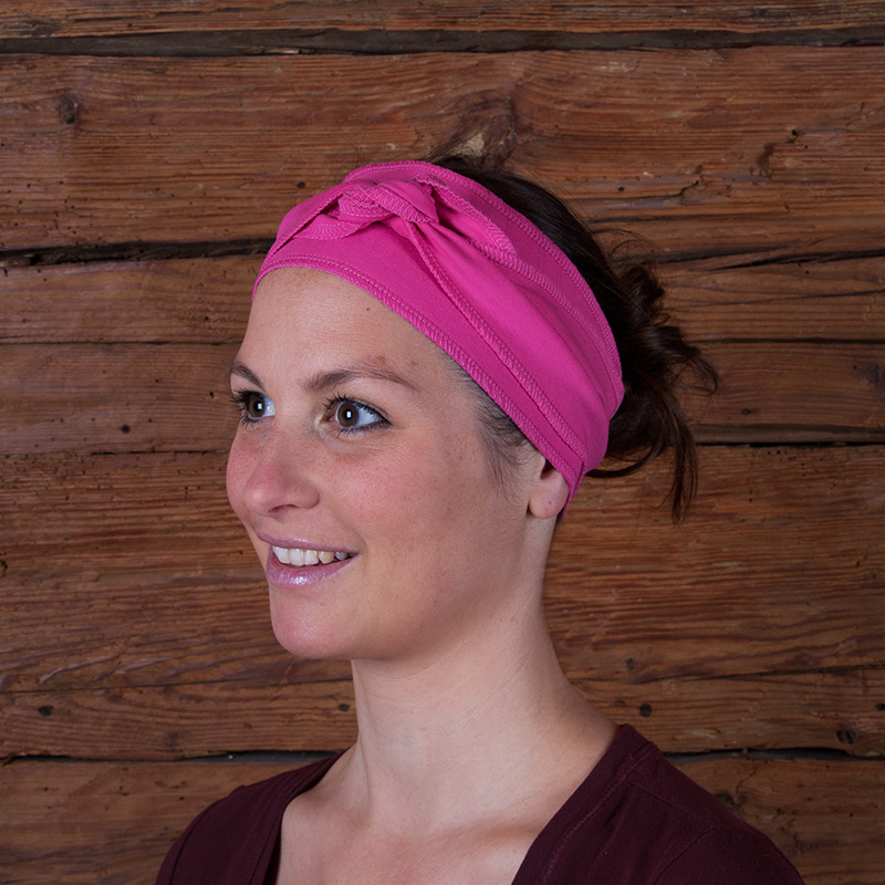 Stirnband Yoga pink