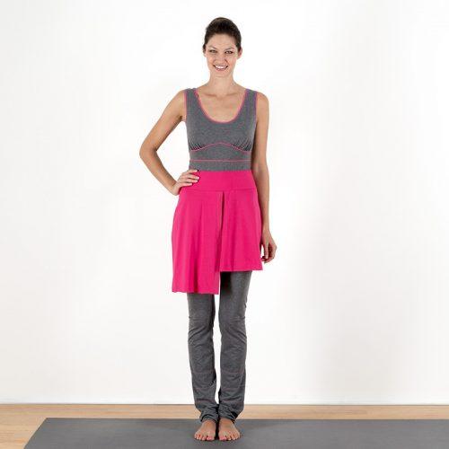 Yogaoverall Yogajumpsuit Jumpsuit Yogarock pink verschlusslos Baumwolljersey fair regional Niederbayern Yogakleidung