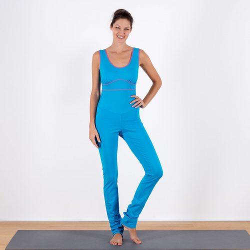 Yoga-Overall Jumpsuit türkis