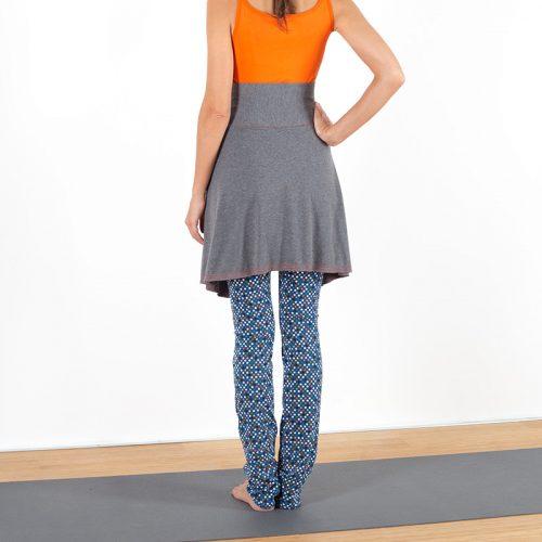Yogalegging Yogahose Yogarock Rocklegging Yogapant Legging Sterne Sternchen grau bunt Baumwolljersey