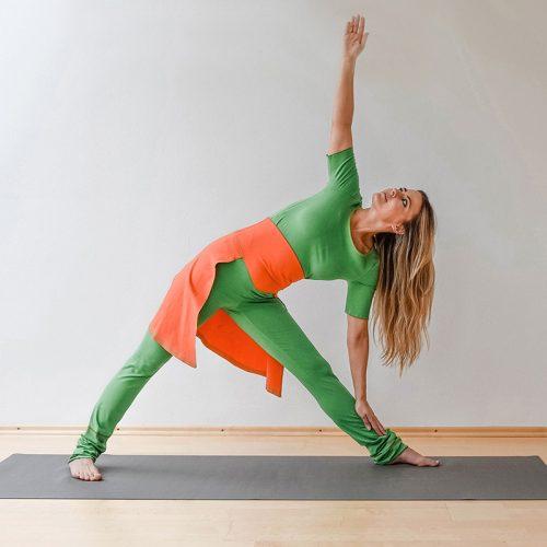 Yogahose Legging Yogapant Rocklegging Yogalegging orange grün Rock