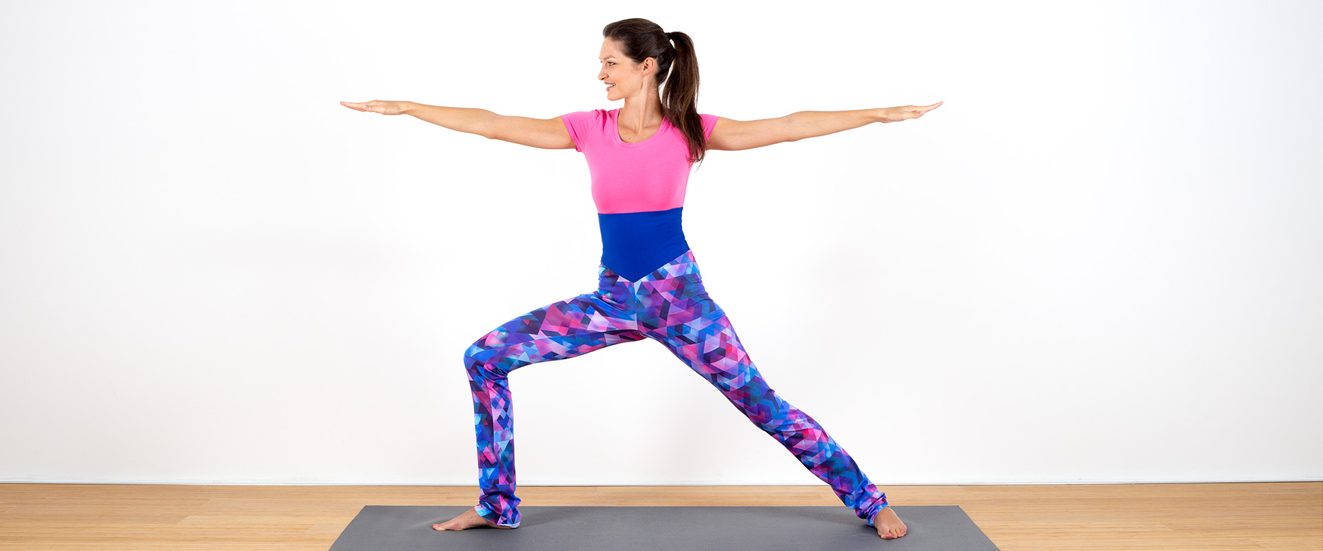 Legging Yoga Geometria Blau lila türkis petrol