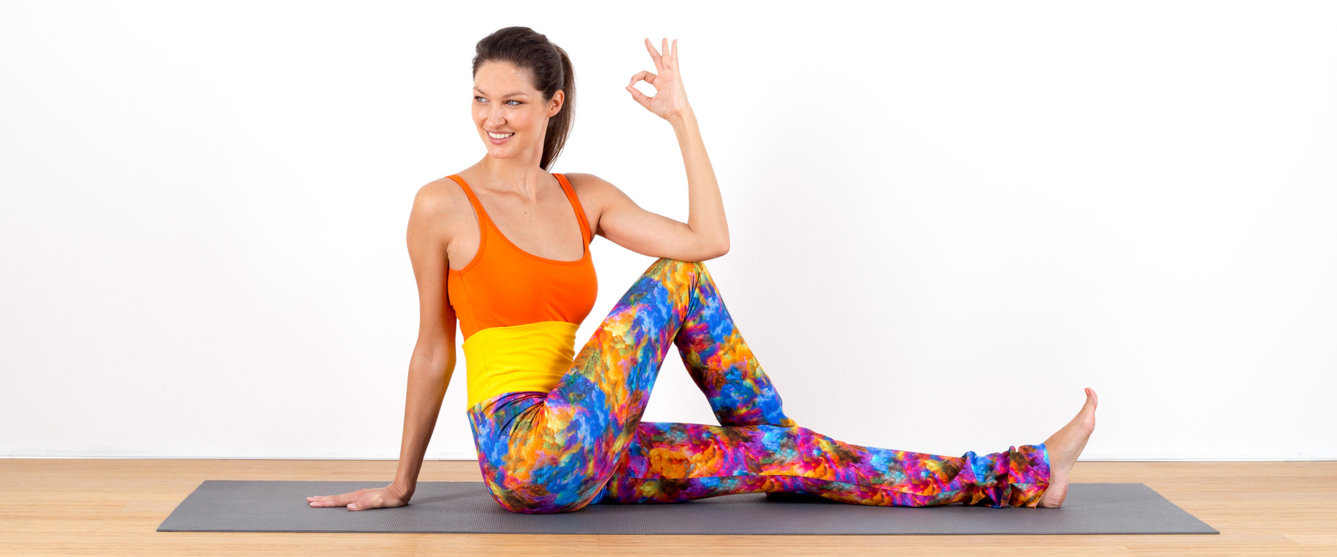 Legging Yoga bunt hippie